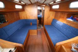 Boat seating saloon
